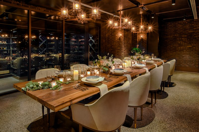 The Wine Cellar at Bargello Restaurant in Downtown Asheville, elegant private dining
